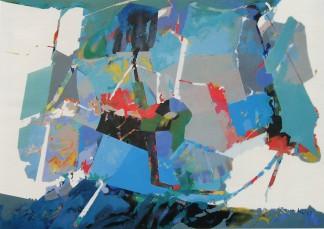 EDOARDO FRANCESCHINI - Paesaggio, 1987, acrilico su tela, 140x200cm