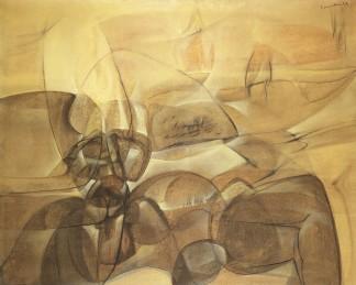 EDOARDO FRANCESCHINI - Senza titolo, 1957, olio su tela, 130x160cm