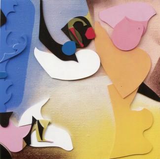 EDOARDO FRANCESCHINI - Senza titolo, 1968, collage e tecnica mista su tela, 70x70cm