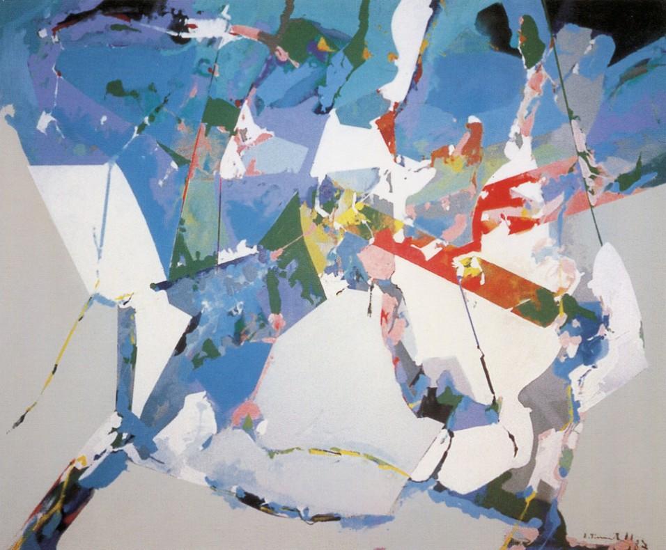 EDOARDO FRANCESCHINI - Ravel, 1997, acrilico su tela, 140x170cm