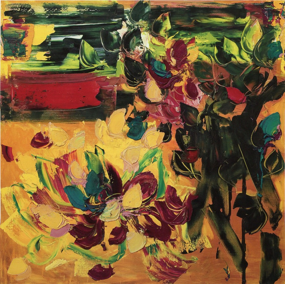 GIANCARLO LIMONI - Giardino del nord, 2006, olio su tela, 150x150cm
