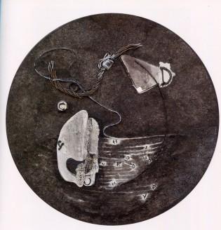 GABRIELLA BENEDINI - Segni della memoria, 2008, polimaterico, diam.50cm