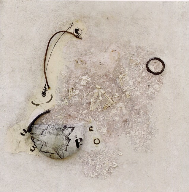 GABRIELLA BENEDINI - Tante tracce, 2007, polimaterico, 45x45cm