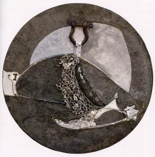 GABRIELLA BENEDINI - Segni del tempo, 2008, polimaterico, diam.50cm