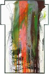 ARNULF RAINER - Croce, 1988-89, Olio su tavola, 186x125cm