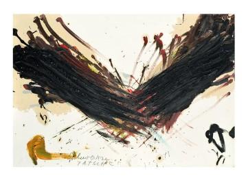 ARNULF RAINER - Rothand, 1988, Olio su cartone su tavola, 51x73cm