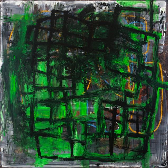 Jordi Mollà, Senza titolo, 2012, acrilico su tela, 180x180 cm
