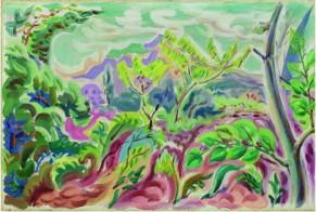 "André Masson, ""Environ de Grasse"", 1931, Olio su tela, 33x55 cm."