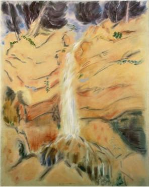 "André Masson, ""Pins et Cascade"", 1953, Olio su tela, 92x73 cm."