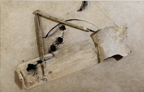 GABRIELLA BENEDINI - La misura del cielo, 2000, tecnica mista su tavola, 90x140cm