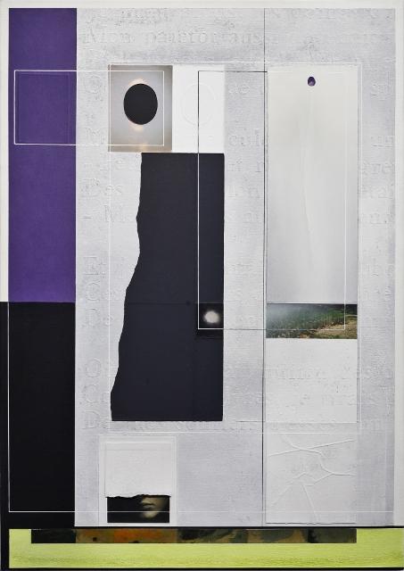 Angelo Cagnone, Blu, 2017, tecnica mista su tela, cm 100x70
