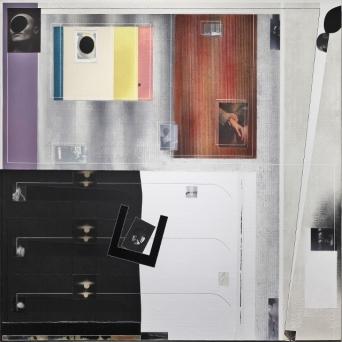 Angelo Cagnone, En attendant, 2017, tecnica mista su tela, cm 130x130